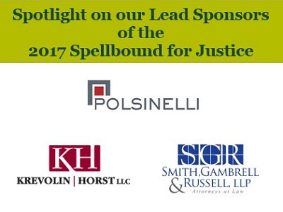 Lead Sponsors for the 2017 Spellbound for Justice